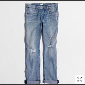 J. Crew | Light Wash Distressed Boyfriend Jean 26